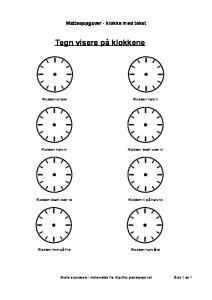 tegn visere på klokken tekst-thumbnail