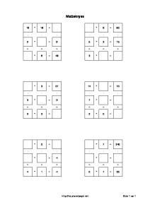 tallkryss gange deling gangetabell 3x3 opptil 100 enkel matteoppgave 3 trinn-thumbnail