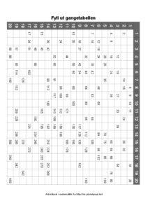 store gangetabell fyll inn 1 ark 212x300