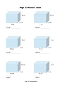volum av kuber regn ut 1 side 212x300