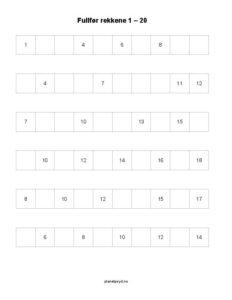 fullfor rekkene 1 20 1 side 232x300