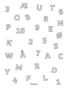 bokstaver og tall 232x300