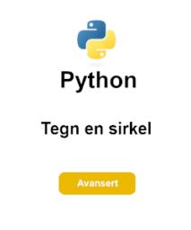 tegn sirkel python