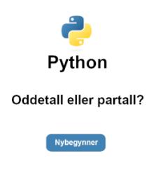 oddetall partall python tutorial