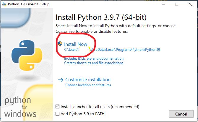 strat installsjon av Python